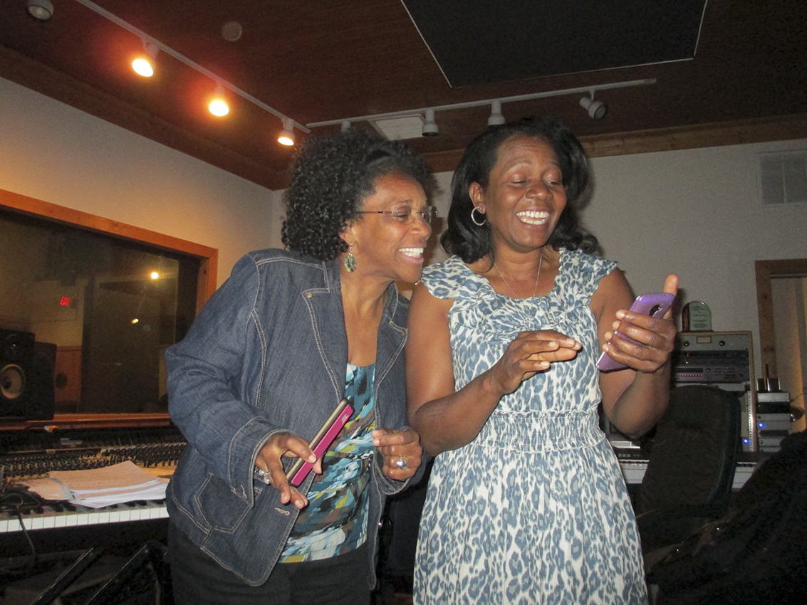 Joyce and Jacque, Shine On recording session